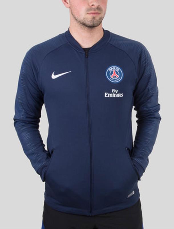 سویشرت ورزشی زیپ دار مردانه Paris Saint Germain Pre-Match - نایکی