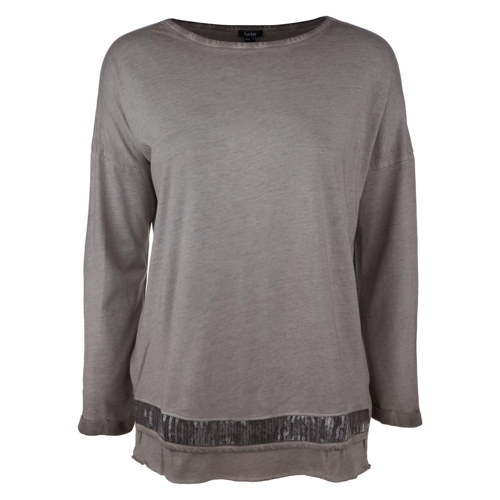 تی شرت نخی یقه گرد زنانه - یوپیم - بژ - 1