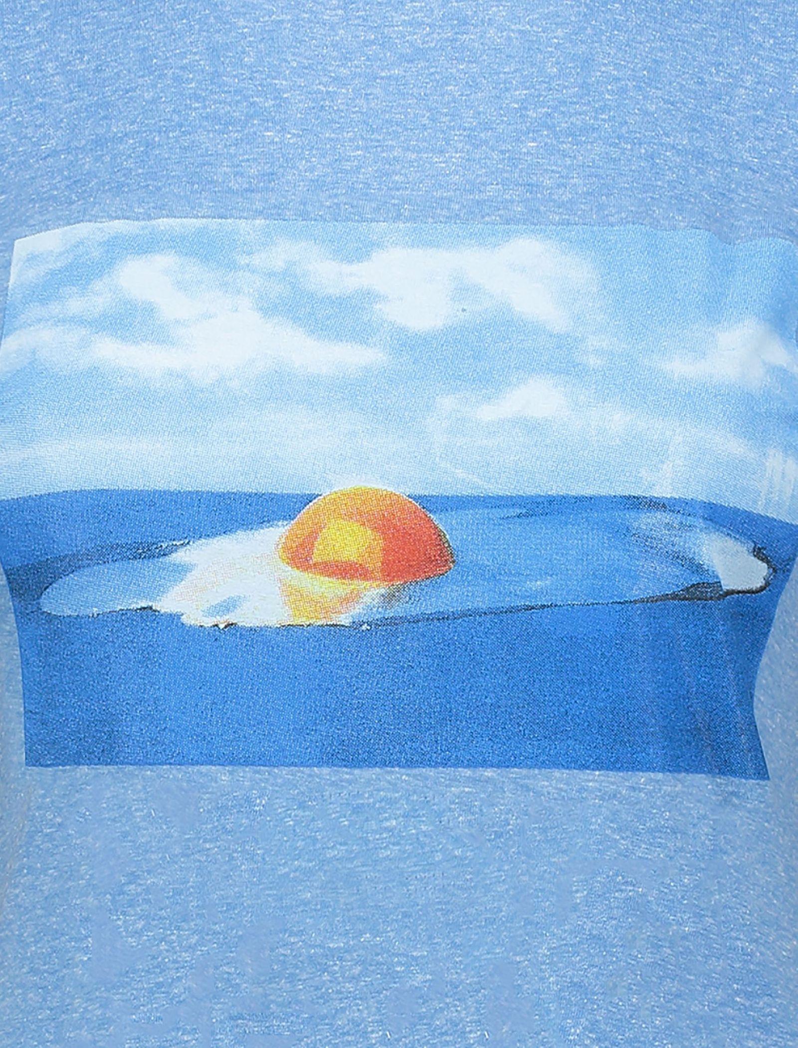 تی شرت یقه گرد زنانه - متی - آبي روشن - 4