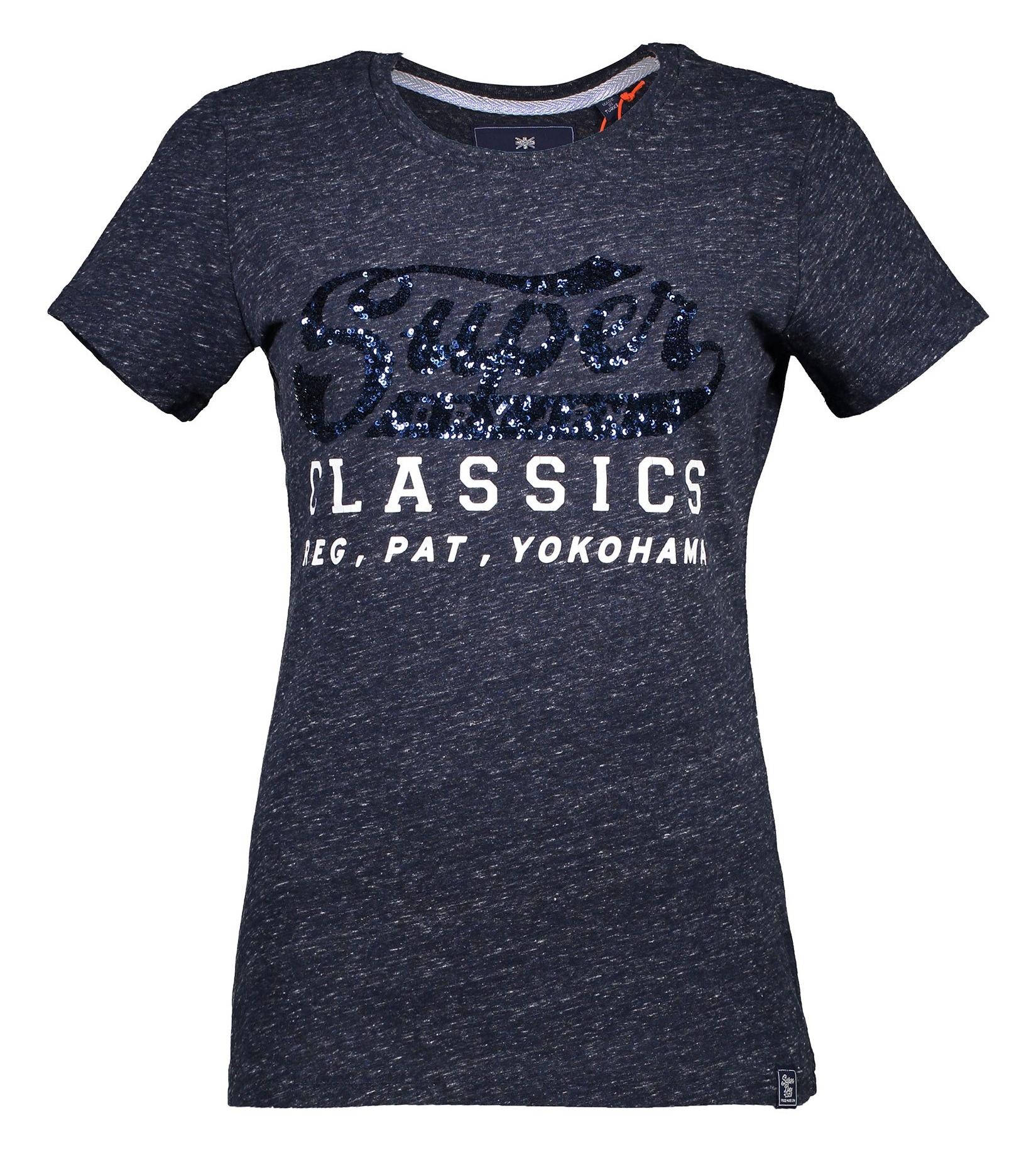 تصویر تی شرت نخی یقه گرد زنانه – سوپردرای