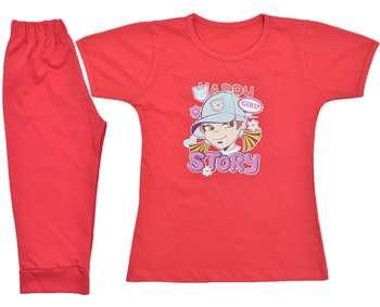 تی شرت و شلوارک دخترانه مدل T186