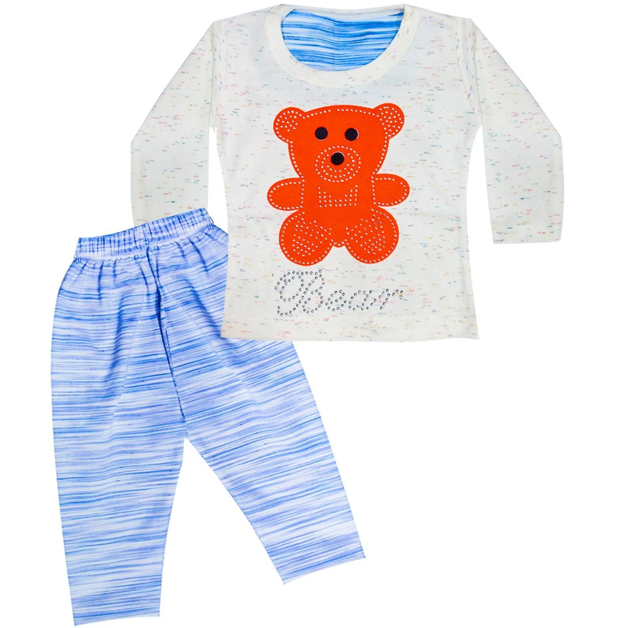 بلوز و شلوار بچگانه طرح Bear رنگ نارنجی