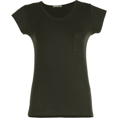 تصویر تی شرت زنانه افراتین کد 2529 رنگ یشمی