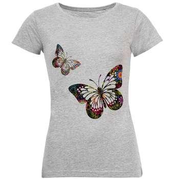 تیشرت زنانه طرح پروانه کد S20