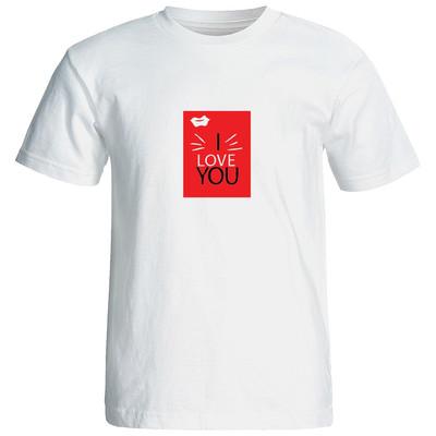 تی شرت آستین کوتاه زنانه طرح عشق کد 20081