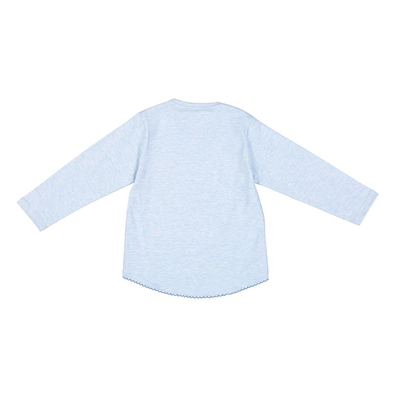 تی شرت نخی آستین بلند دخترانه - سون پون - آبي  - 2