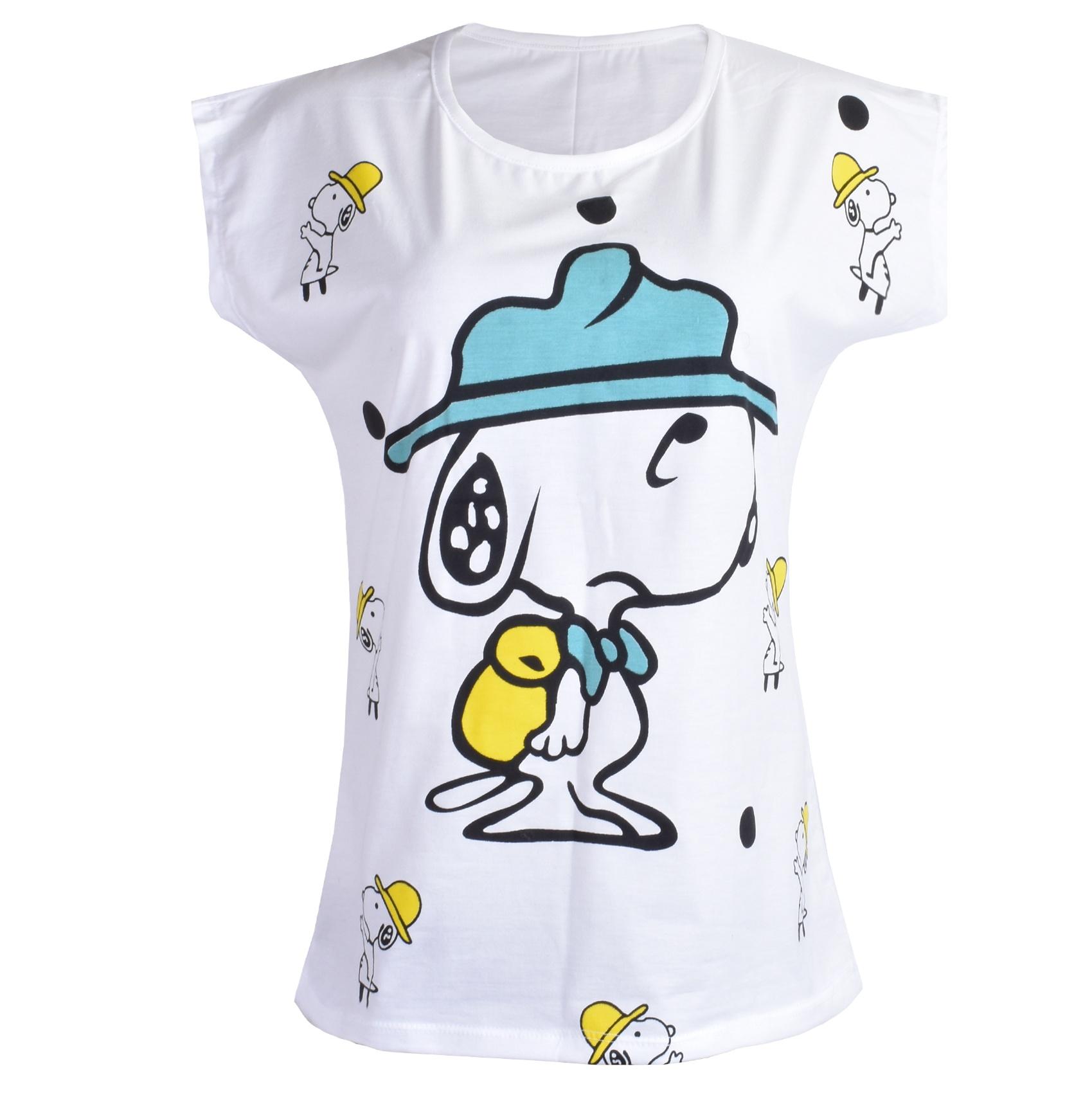 تی شرت زنانه طرح اسنوپی کد 266