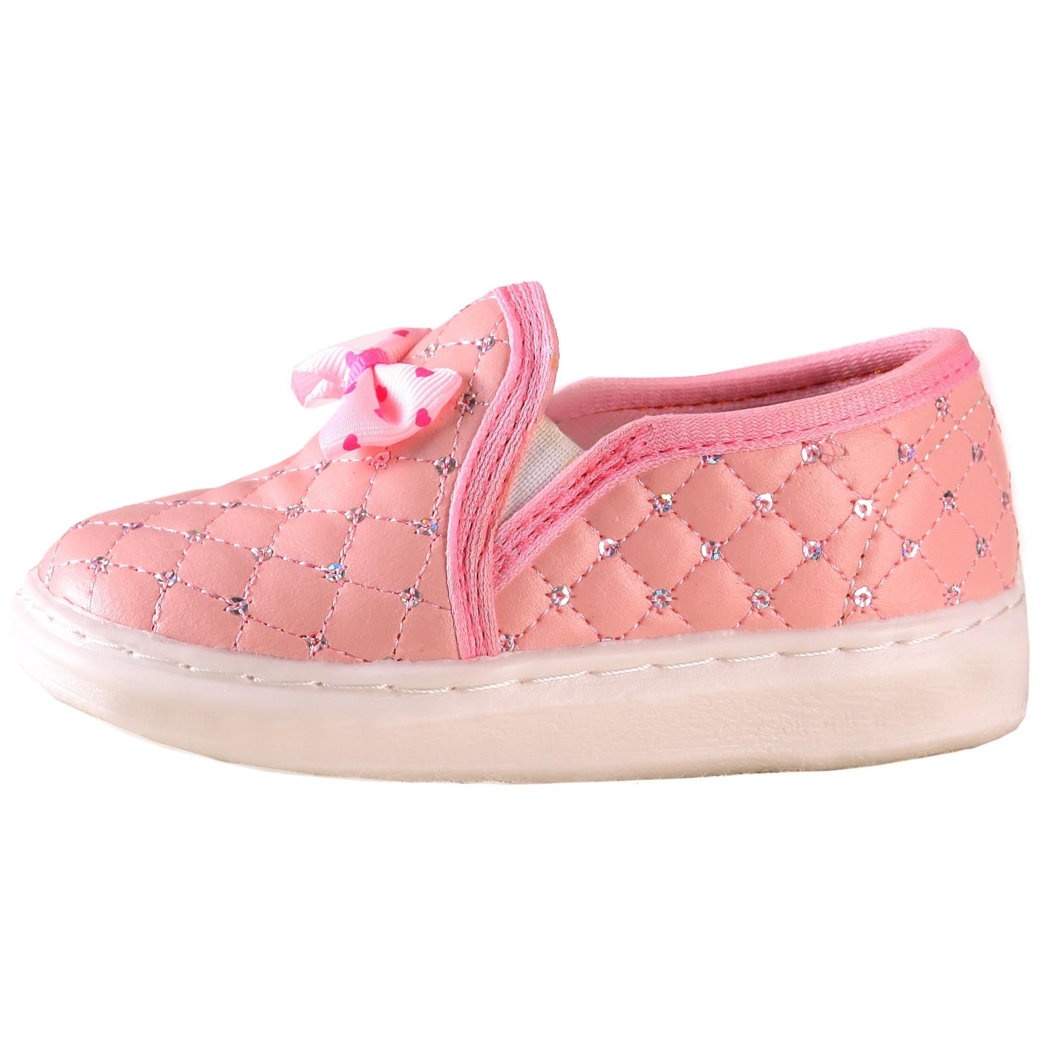 کفش بچگانه طرح پاپیون صورتی رنگ