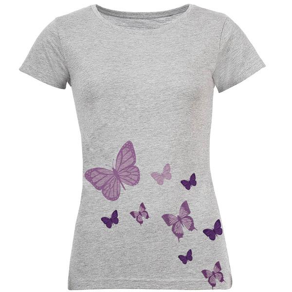 تیشرت زنانه طرح پروانه کد S17