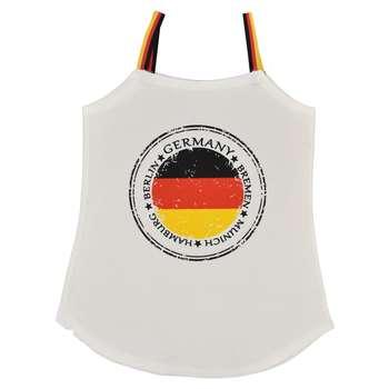 تاپ زنانه طرح پرچم آلمان