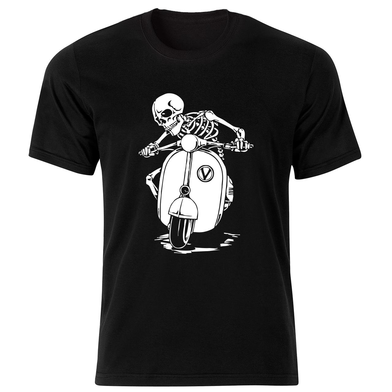 تی شرت مردانه طرح اسکلت کد 199