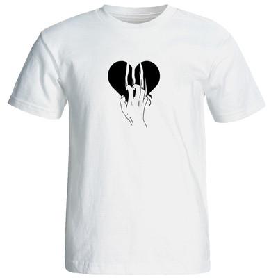 تیشرت آستین کوتاه مردانه طرح قلب کد 23046