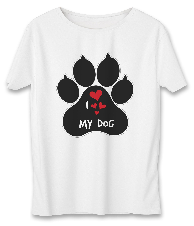 تی شرت نه به رسم طرح عشق سگ کد5502