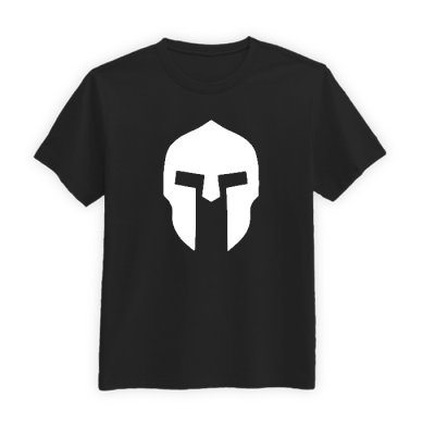 تی شرت آستین کوتاه مردانه طرح نقاب گلادیاتور کد BW13445