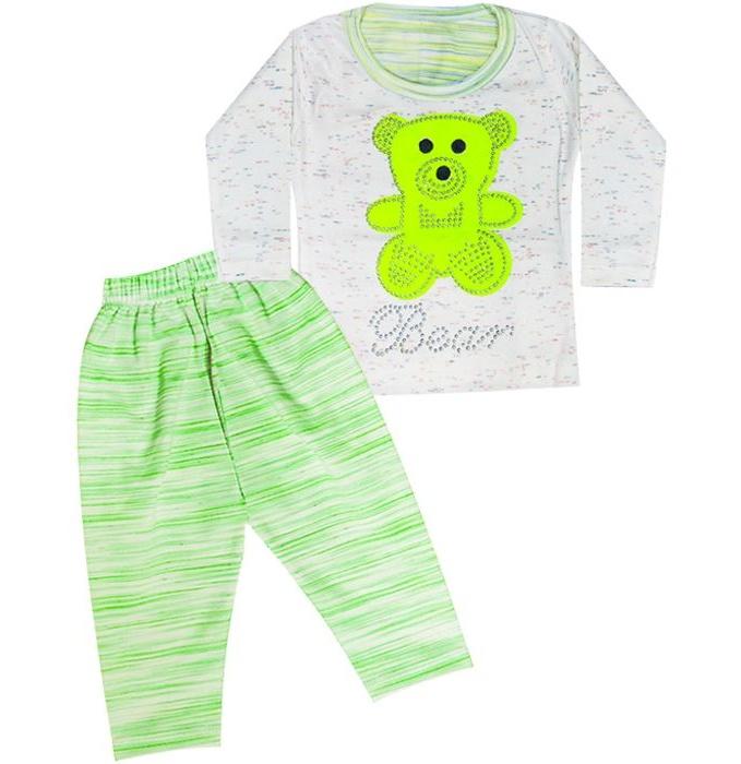 بلوز و شلوار بچگانه طرح Bear رنگ سبز