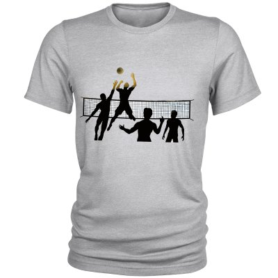 تصویر تیشرت مردانه طرح والیبال کد C05