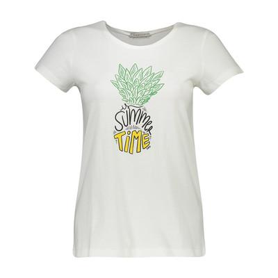 تصویر تی شرت زنانه سیاوود مدل CNECK-PINEAPPLE-61818 کد W0000 رنگ سفید