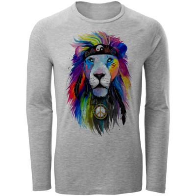 تی شرت مردانه طرح شیر رنگی کد B27
