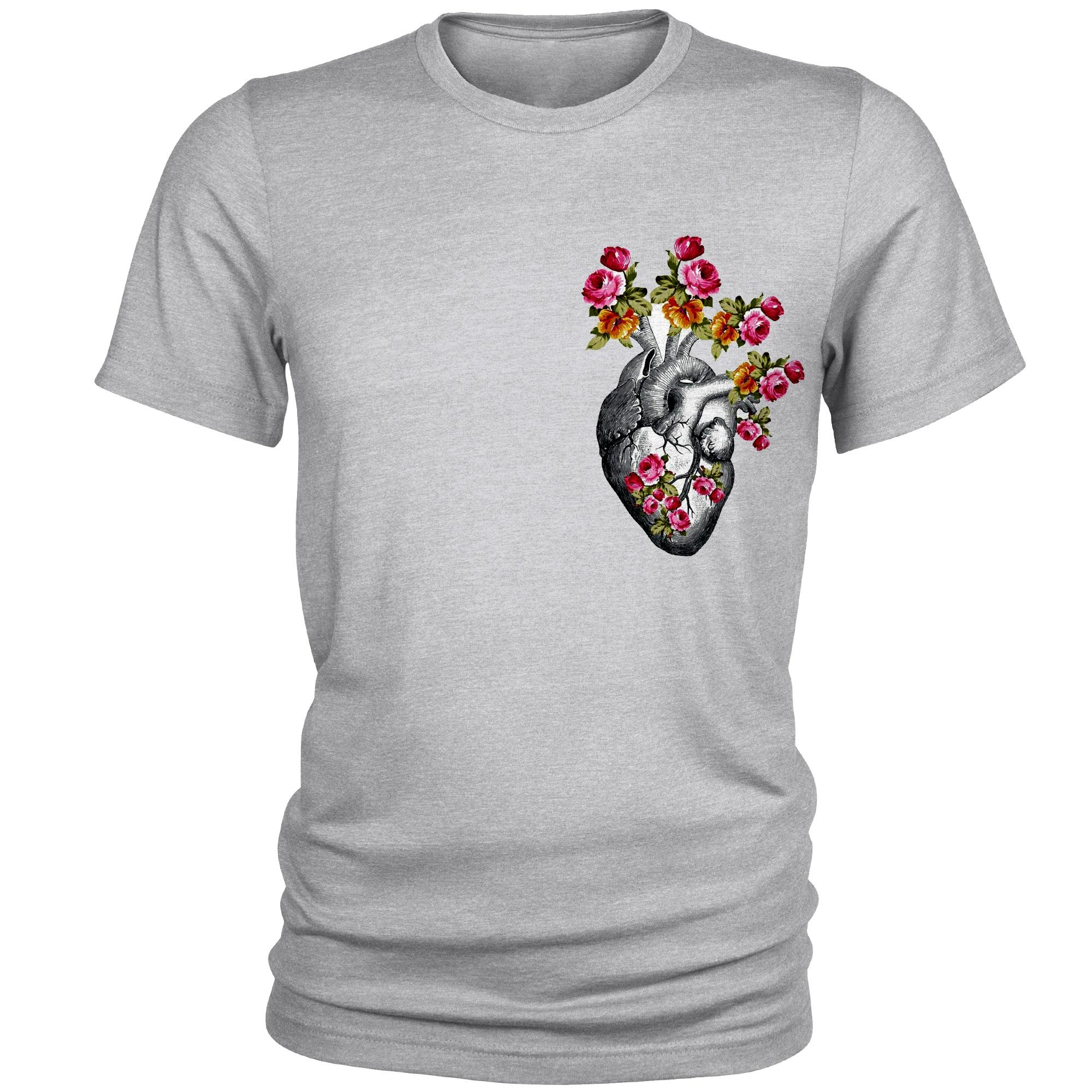 تیشرت مردانه طرح قلب کد B03