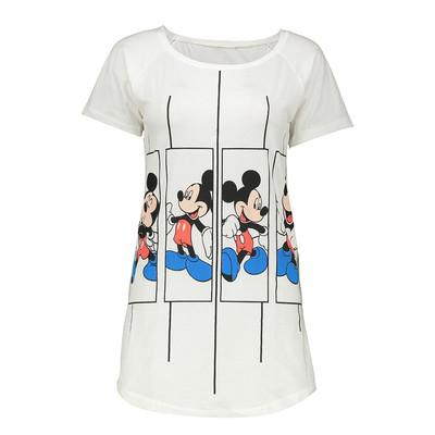تی شرت زنانه طرح میکی موس بصیر ایران مدل 9102