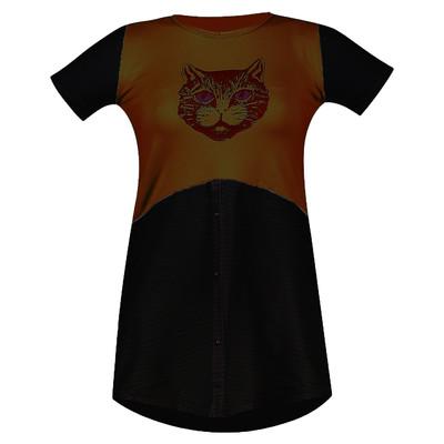 تی شرت زنانه مدل Cat BH