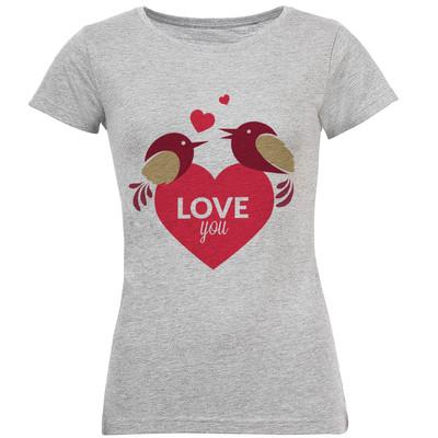 تیشرت زنانه طرح LOVE کد S113