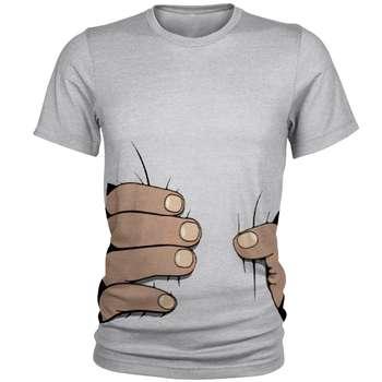 تیشرت مردانه طرح دست سه بعدی کد S24