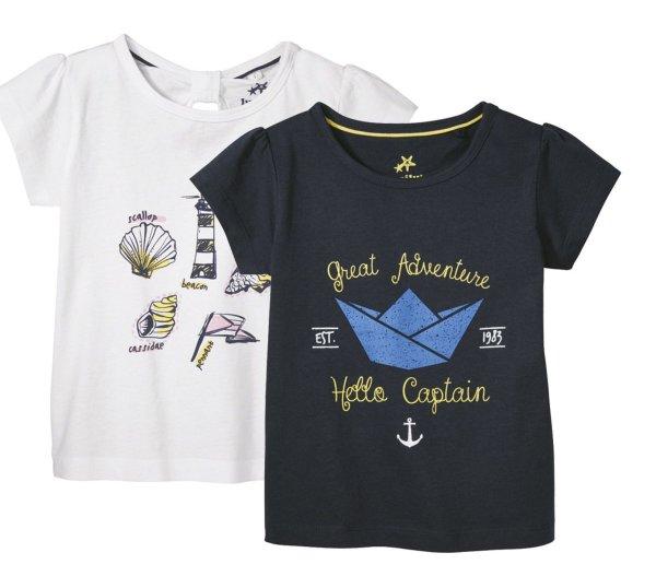 تی شرت دخترانه لوپیلو مدل BT179 مجموعه 2 عددی