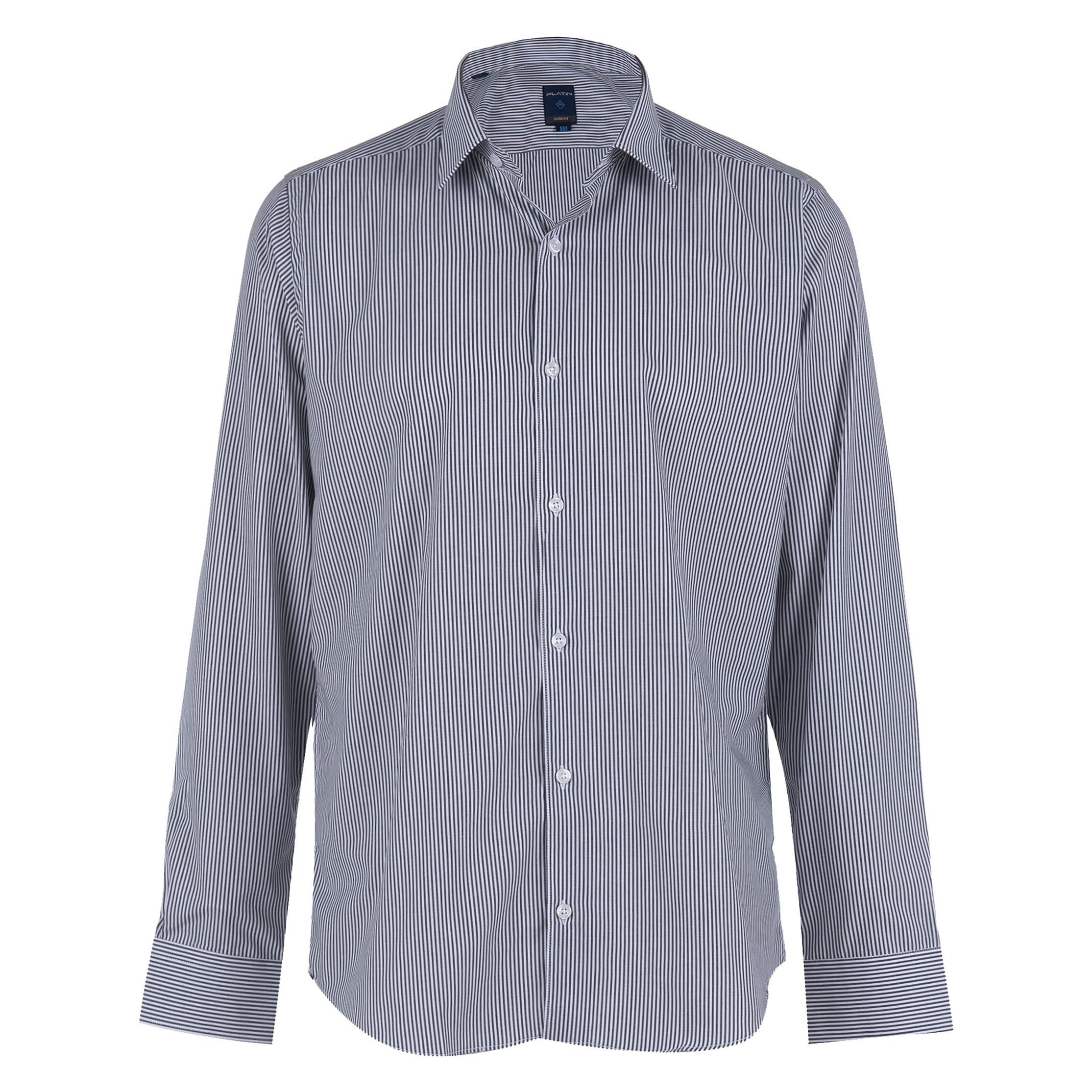 پیراهن مردانه پلاتین طرح راه راه کد 1021
