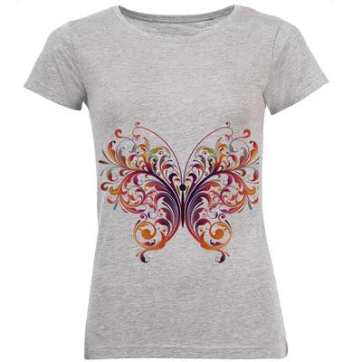 تی شرت زنانه طرح پروانه کد B74