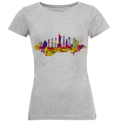 تی شرت زنانه طرح شهر کد S127