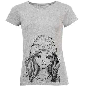 تیشرت زنانه طرح Summer Girl کد C103