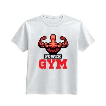 تی شرت آستین کوتاه طرح Power Gym کد 13481