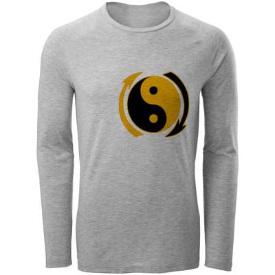 تصویر تی شرت مردانه طرح یین و یانگ کد B67