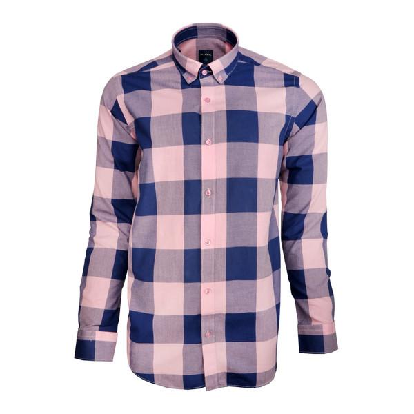 پیراهن مردانه پلاتین طرح چهارخانه کد 1029