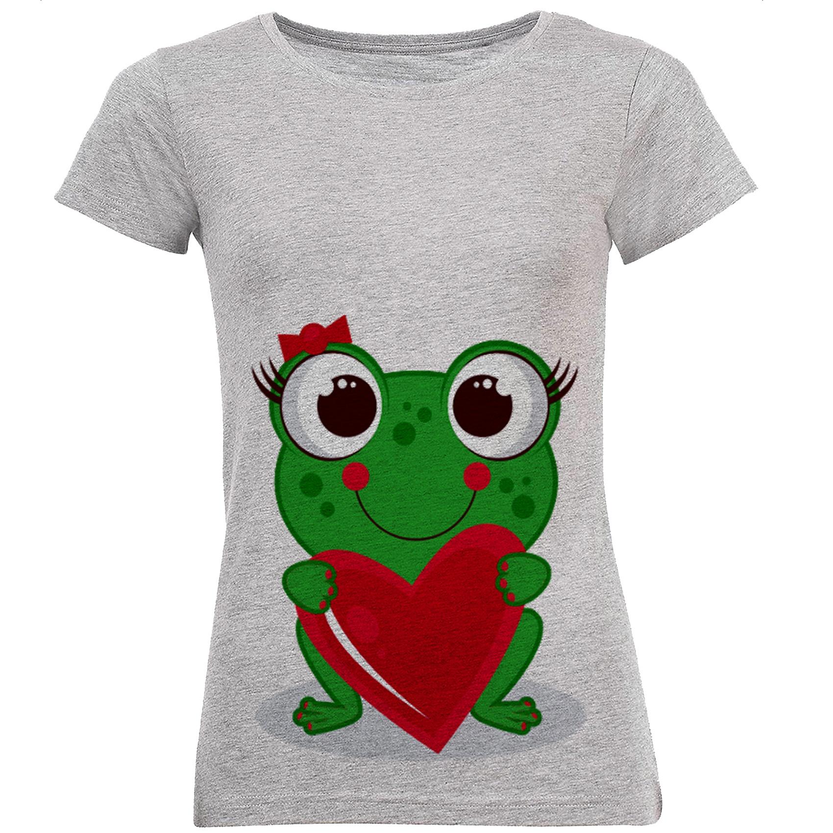 تصویر خرید تی شرت زنانه طرح قورباقه کد B88