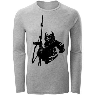 تی شرت مردانه طرح اسکلت و اسلحه کد B88