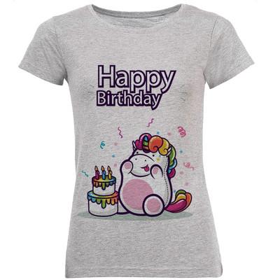 Photo of تی شرت زنانه طرح تولدت مبارک  کد B100