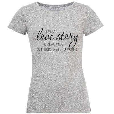 Photo of تی شرت زنانه طرح love کد S146