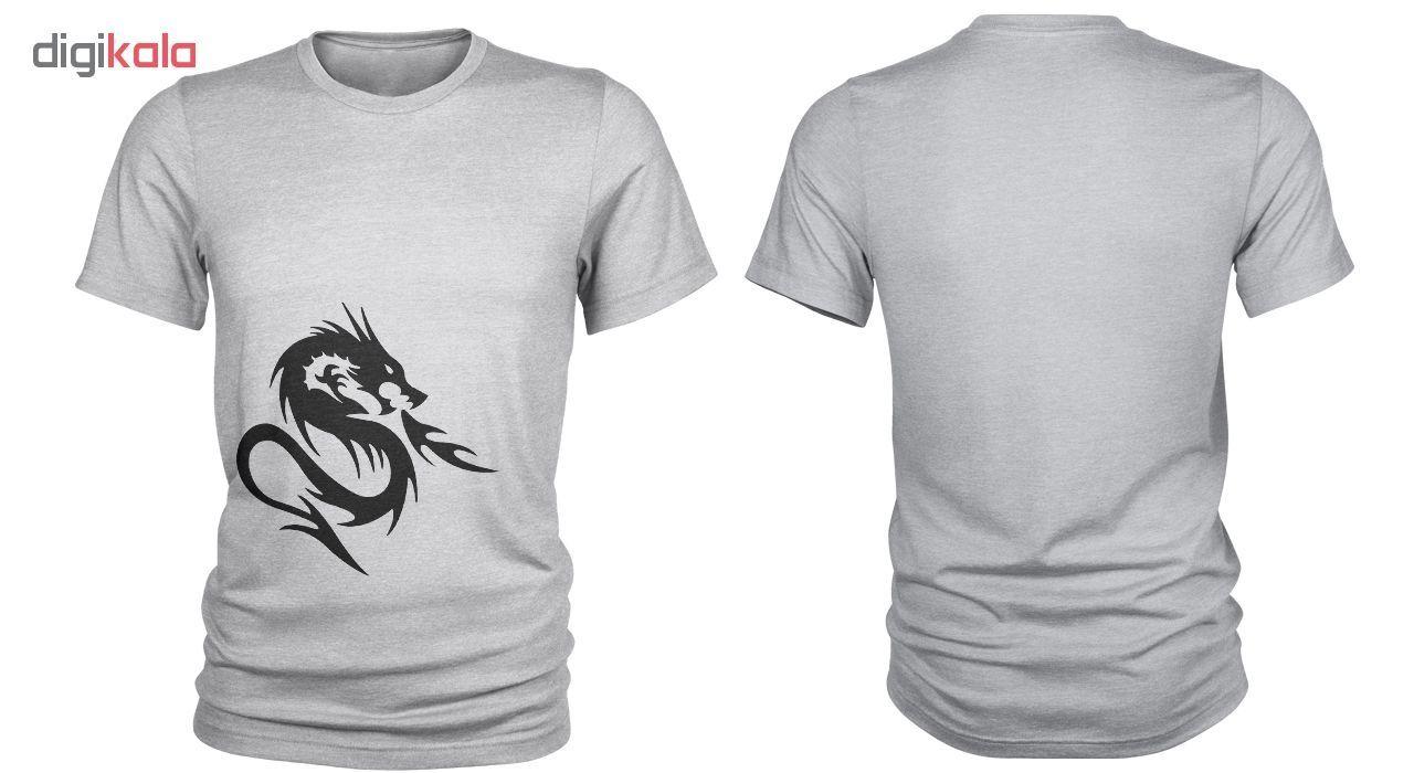 تی شرت مردانه طرح اژدها کد C35