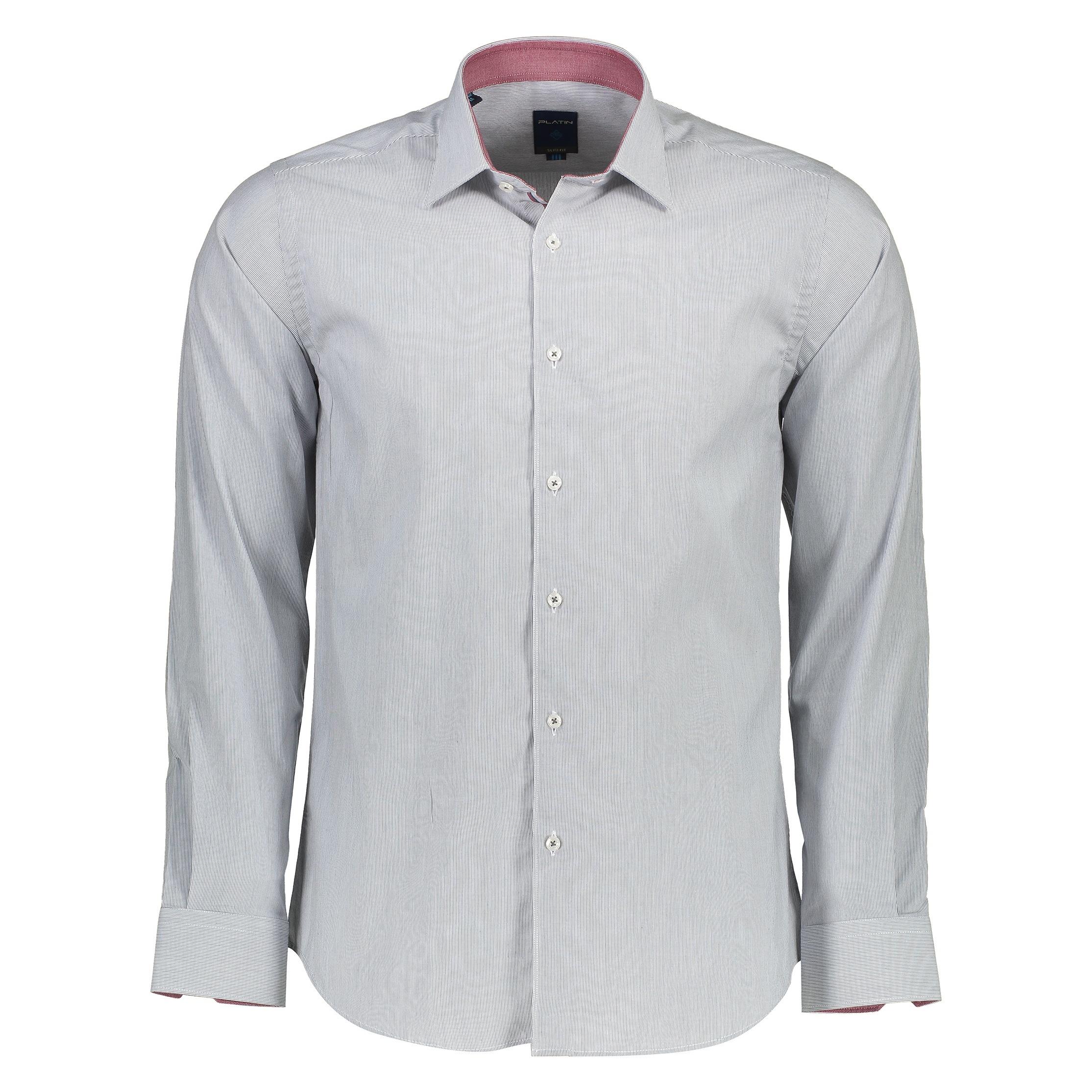پیراهن مردانه پلاتین طرح راه راه کد 1009
