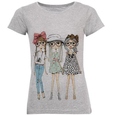تی شرت زنانه طرح بهترین دوست کد C79