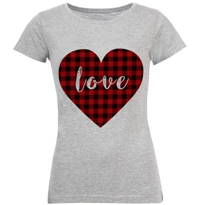 تی شرت زنانه طرح LOVE کد S124