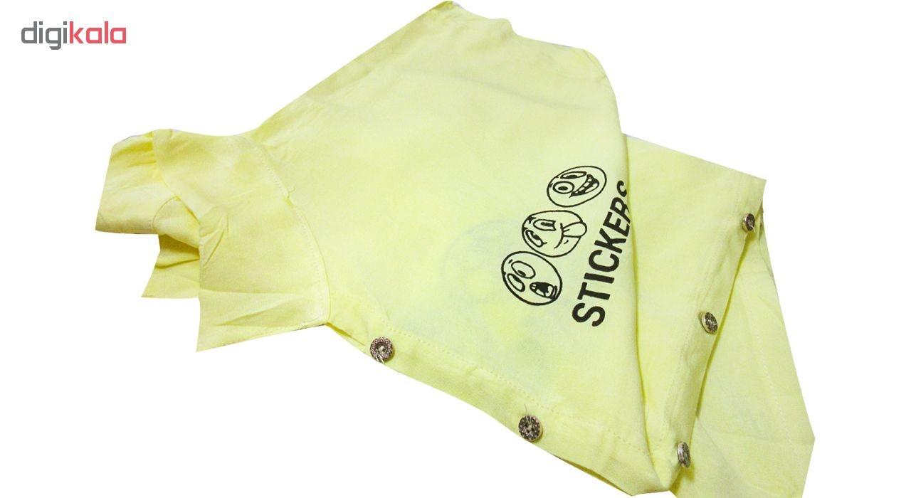 شومیز نه مدل Sticker Knot رنگ زرد