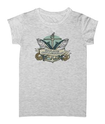 تصویر تی شرت زنانه طرح ماهیگیری مدل EZM53