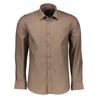 تصویر پیراهن مردانه پلاتین طرح راه راه کد 1011