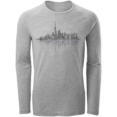تصویر تی شرت آستین بلند مردانه طرح City کد AL046