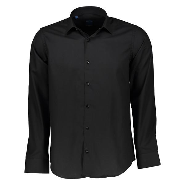 پیراهن مردانه پلاتین کد 1022 رنگ مشکی