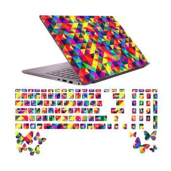 استیکر لپ تاپ صالسو آرت مدل 5009 hk به همراه برچسب حروف فارسی کیبورد