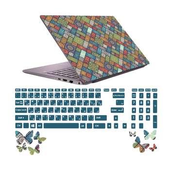 استیکر لپ تاپ صالسو آرت مدل 5010 hk به همراه برچسب حروف فارسی کیبورد